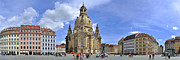 Travel Images Worldwide - Panorama  Dresden church...